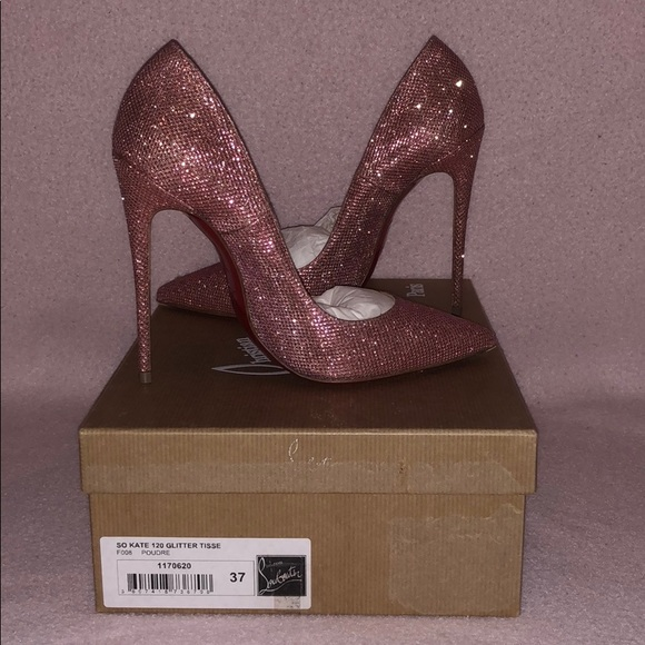 super popular 3683f 18e48 So Kate 120 Pink Glitter Christian Louboutin